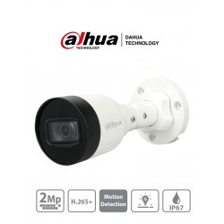 IPC-HFW1230S1P-0208b-s4 - Cámara Bullet IP - 2MP - 2.8mm - IP67 - Metalica - IR 30mts - Dahua (Cod:9000)