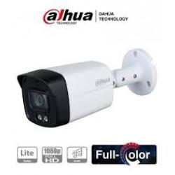 HAC-HFW1239TLMP-A-LED-0280B - Cámara Bullet 5en1 - 2Mpx - Full Color - IP67 - Metálica - Con Micrófono - IR40m - Dahua (Cod:8999)
