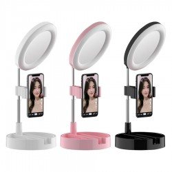 Espejo con luz y soporte para celular Mai APPEARANCE - varios colores - HX-D04 (Cod:8982)