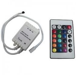Controladora con control remoto 24 teclas para tira de led (Cod:6003)