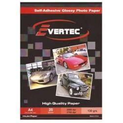 Papel fotografico Glossy 210gr A4 por 20 hojas Evertec (Cod:6220)