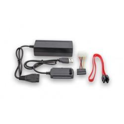 Cable Adaptador USB 2.0 a Sata IDE 2.5 y 3.5 con fuente - Noganet ST-2023 (Cod:6401)