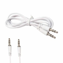 Cable auxiliar / Plug 3.5 a Plug 3.5 de 1 mt  Blanco (Cod:6568)