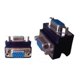 Adaptador VGA hembra a VGA hembra tipo L (Cod:6577)