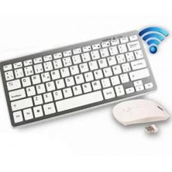 Kit Teclado y mouse inalambrico Sin numérico - DN-H263 Blanco (Cod:6583)