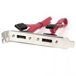 Cable Placa doble sata interno hembra a doble sata externo (Cod:7047)