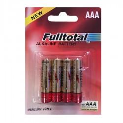 Pack de 4 Pilas Alcalinas Fulltotal AAA - LR03P-B4P (Cod:7681)