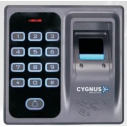 ACS-301B - Panel de control de accesos  - Para apertura de puerta Huella digital tarjetatag EM 125kHz y clave color negro Cygnus (Cod:7795)