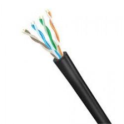 Cable UTP exterior - Cat5e - Negro x metro  (Cod:7846)