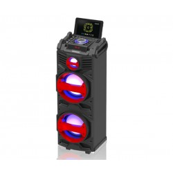 Bafle potenciado portatil con microfono inalambrico incluido - SD - USB - Bluetooth - SP-3428WM Panacom (Cod:7928)