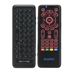 Mini Teclado Inalambrico para Celular - Pc - Smart - Tv - Consolas - Negro - iPazzPort - KP62 (Cod:8047)