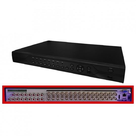 XVR-6932KF - Dvr 32 Canales FULL Hd - Ahd Mode Recording Resolution: 32CH*1080N@15fps - Playback 8CH - ONVIF - Audio in: 16CH - Alarma in: 16ch - Soporta 2/6TB - RS485  - Salida HDMI /VGA  (Cod:8083)