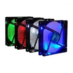 Cooler con luz 12x12 - con Leds - para gabinetes con enchufe para fuente - marco negro (Cod:8268)