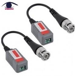 Par Video Balun pasivo HDCVI / TVI / AHD con bornera Compatible con todas las cámaras analógicas HD-TVI, HD-CVI, AHD y CVBS - VB202PH-2 - Vision (Cod:8454)