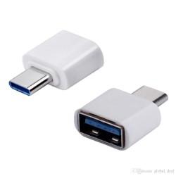 Adaptador USB C - Tipo C macho a USB hembra OTG  (Cod:8491)