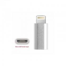 Adaptador iphone - Iphone macho a micro USB hembra OTG  (Cod:8526)