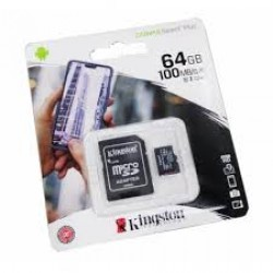 Memoria Micro SDHC con adaptador SD 64GB SDCS2/64GB Kingston Clase 10 100mbs  (Cod:8552)