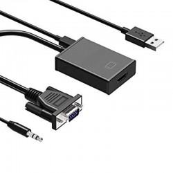 Cable Conversor VGA Macho a HDMI Hembra con Audio - Vision - VTH14 (Cod:8558)