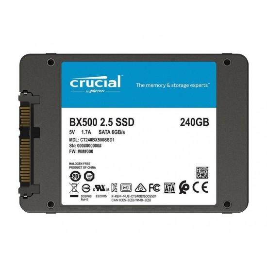 Disco SSD Crucial 240GB SATA Interno BX500 - CT240BX500SSD1  (Cod:8678)