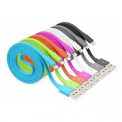 Cable Iphone a USB macho - Varios colores - con Luz - 1mt (Cod:8710)