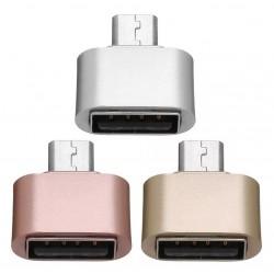 Adaptador micro USB macho a USB hembra OTG  (Cod:8731)
