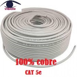 100% Cobre - Cable Vision UTP interno flexible Cat 5E Gris - CAT5EU305E x 305 MTs (Cod:8751)