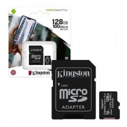 Memoria Micro SDHC con adaptador SD 128GB SDCS2/128GB Kingston Clase 10 100mbs (Cod:8809)