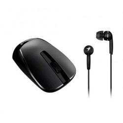 Mouse Genius inalambrico MH-7018 Negro - Ambidiestro USB + Auricular de REGALO (Cod:8822)