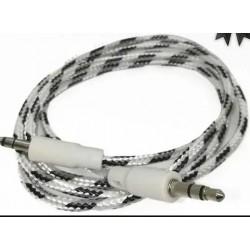 Cable auxiliar / Plug 3.5 a Plug 3.5 de 90 cmt - mayado (Cod:8873)