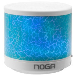 Mini Parlante Bluetooth NGS-310 Celeste con LED Noga (Cod:8890)