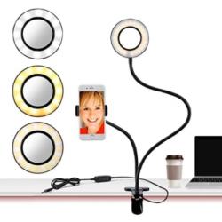 Lampara Led Flexible Con Soporte Para Celular Live Stream - HX-D02 (Cod:8976)