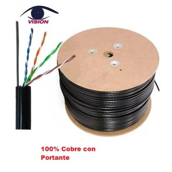Cable UTP exterior - Cat5 - 100% cobre con PORTANTE - Por Metro (Cod:9091)