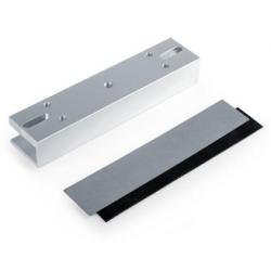 EL-180U - Accesorio en U para montaje de cerradura magnética en puertas de vidrio 180kg - CYGNUS (Cod:9140)