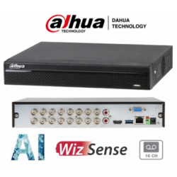 XVR5116HS-I2 - DVR 16 Canales Penta brido - 16+8ch H.265 4M coding 1 HDD - SMD Plus 16ch - IVS 2ch - FR - Inteligencia Artificial - Dahua (Cod:9144)