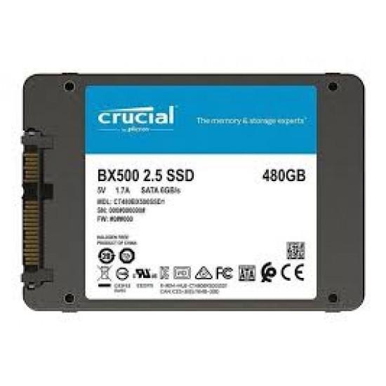 Disco SSD Crucial 480GB SATA Interno BX500 - CT480BX500SSD1 (Cod:8955)