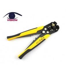 Pinza automática para cortar, pelar y prensar alambres y cables - T5103 - Vision (Cod:9056)