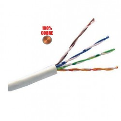 100% Cobre - Cable Vision UTP INTERNO flexible Cat 5E Gris - CAT5EU305E x metro (Cod:8903)