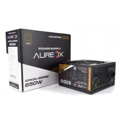 Fuente Power Supply Aureox - 80 Plus - BRONZE ARXGU-80PBZ-650W (Cod:8987)